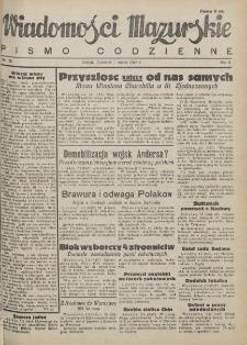 Wiadomości Mazurskie : pismo codzienne. 1946 (R. 2), nr 56