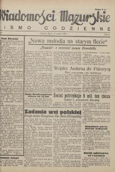 Wiadomości Mazurskie : pismo codzienne. 1946 (R. 2), nr 61