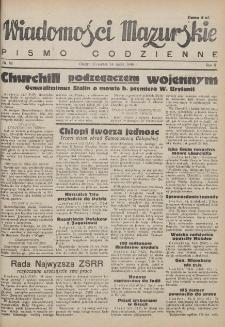 Wiadomości Mazurskie : pismo codzienne. 1946 (R. 2), nr 62