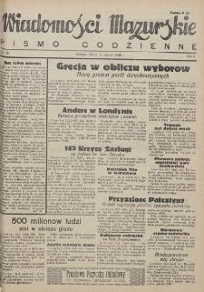Wiadomości Mazurskie : pismo codzienne. 1946 (R. 2), nr 63