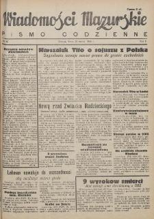 Wiadomości Mazurskie : pismo codzienne. 1946 (R. 2), nr 67