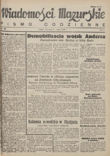 Wiadomości Mazurskie : pismo codzienne. 1946 (R. 2), nr 68