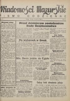 Wiadomości Mazurskie : pismo codzienne. 1946 (R. 2), nr 79