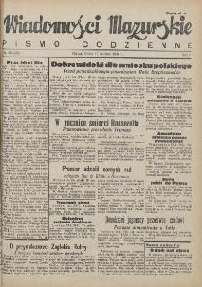 Wiadomości Mazurskie : pismo codzienne. 1946 (R. 2), nr 88 (99)