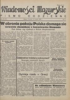 Wiadomości Mazurskie : pismo codzienne. 1946 (R. 2), nr 92 (103)