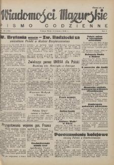 Wiadomości Mazurskie : pismo codzienne. 1946 (R. 2), nr 93 (104)