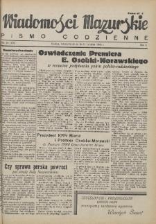 Wiadomości Mazurskie : pismo codzienne. 1946 (R. 2), nr 94 (105)