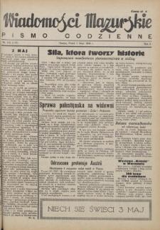 Wiadomości Mazurskie : pismo codzienne. 1946 (R. 2), nr 102 (113)