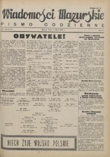 Wiadomości Mazurskie : pismo codzienne. 1946 (R. 2), nr 105 (116)