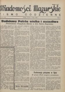 Wiadomości Mazurskie : pismo codzienne. 1946 (R. 2), nr 107 (118)