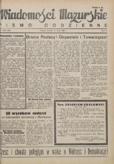 Wiadomości Mazurskie : pismo codzienne. 1946 (R. 2), nr 108 (120)