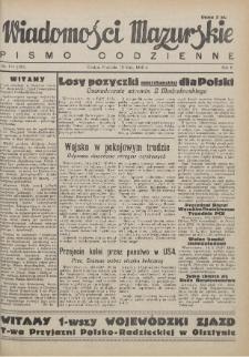 Wiadomości Mazurskie : pismo codzienne. 1946 (R. 2), nr 114 (125)