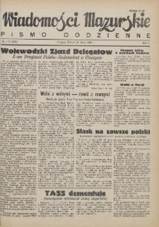 Wiadomości Mazurskie : pismo codzienne. 1946 (R. 2), nr 115 (116)