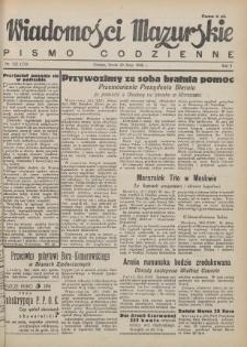 Wiadomości Mazurskie : pismo codzienne. 1946 (R. 2), nr 122 (133)