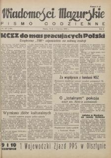 Wiadomości Mazurskie : pismo codzienne. 1946 (R. 2), nr 127 (138)