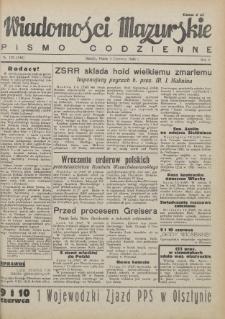Wiadomości Mazurskie : pismo codzienne. 1946 (R. 2), nr 129 (140)