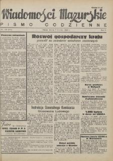 Wiadomości Mazurskie : pismo codzienne. 1946 (R. 2), nr 130 (140)
