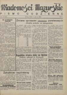 Wiadomości Mazurskie : pismo codzienne. 1946 (R. 2), nr 134 (145)