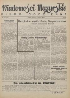Wiadomości Mazurskie : pismo codzienne. 1946 (R. 2), nr 143 (154)