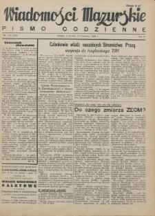 Wiadomości Mazurskie : pismo codzienne. 1946 (R. 2), nr 144 (155)