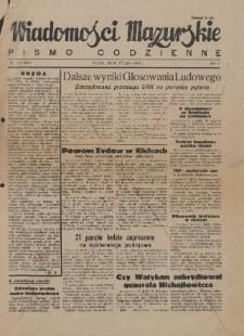 Wiadomości Mazurskie : pismo codzienne. 1946 (R. 2), nr 152 (163)