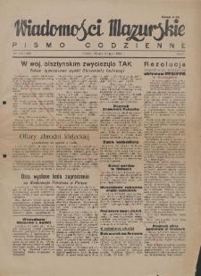 Wiadomości Mazurskie : pismo codzienne. 1946 (R. 2), nr 154 (165)