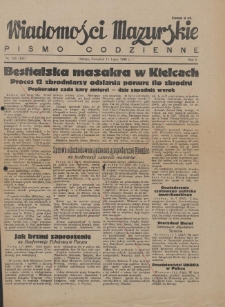 Wiadomości Mazurskie : pismo codzienne. 1946 (R. 2), nr 156 (167)