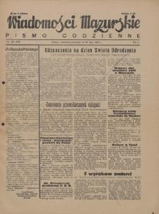 Wiadomości Mazurskie : pismo codzienne. 1946 (R. 2), nr 165 (176)