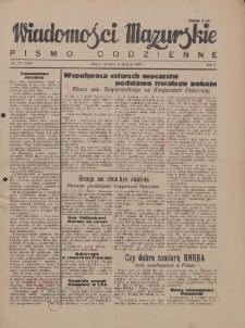 Wiadomości Mazurskie : pismo codzienne. 1946 (R. 2), nr 177 (180)