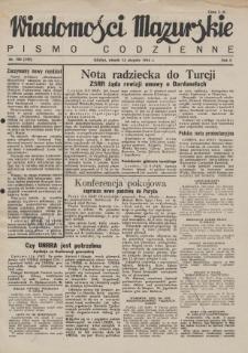 Wiadomości Mazurskie : pismo codzienne. 1946 (R. 2), nr 184 (195)