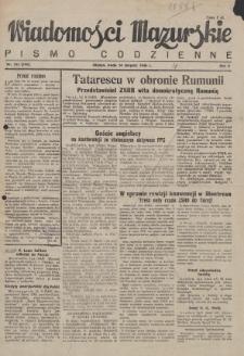 Wiadomości Mazurskie : pismo codzienne. 1946 (R. 2), nr 185 (196)