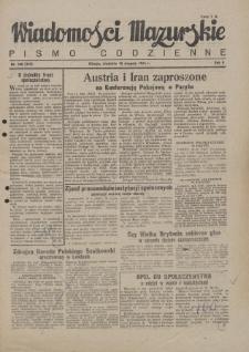 Wiadomości Mazurskie : pismo codzienne. 1946 (R. 2), nr 188 (199)