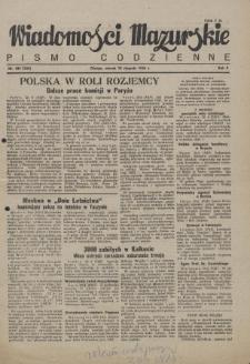 Wiadomości Mazurskie : pismo codzienne. 1946 (R. 2), nr 189 (200)