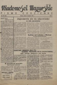 Wiadomości Mazurskie : pismo codzienne. 1946 (R. 2), nr 193 (204)