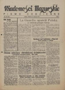 Wiadomości Mazurskie : pismo codzienne. 1946 (R. 2), nr 194 (205)