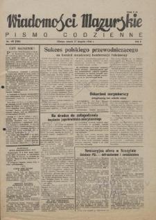 Wiadomości Mazurskie : pismo codzienne. 1946 (R. 2), nr 195 (206)