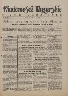 Wiadomości Mazurskie : pismo codzienne. 1946 (R. 2), nr 196 (207)