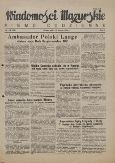 Wiadomości Mazurskie : pismo codzienne. 1946 (R. 2), nr 198 (209)