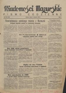 Wiadomości Mazurskie : pismo codzienne. 1946 (R. 2), nr 202 (213)