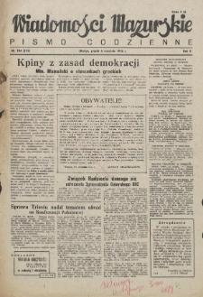 Wiadomości Mazurskie : pismo codzienne. 1946 (R. 2), nr 204 (215)