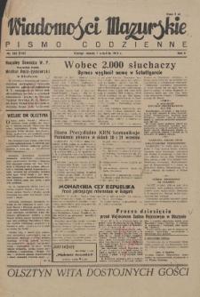Wiadomości Mazurskie : pismo codzienne. 1946 (R. 2), nr 205 (216)