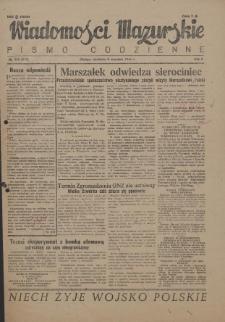 Wiadomości Mazurskie : pismo codzienne. 1946 (R. 2), nr 206 (217)