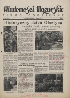 Wiadomości Mazurskie : pismo codzienne. 1946 (R. 2), nr 207 (218)