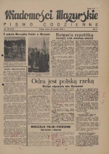 Wiadomości Mazurskie : pismo codzienne. 1946 (R. 2), nr 208 (219)