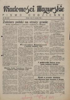 Wiadomości Mazurskie : pismo codzienne. 1946 (R. 2), nr 209 (220)