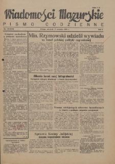 Wiadomości Mazurskie : pismo codzienne. 1946 (R. 2), nr 210 (221)