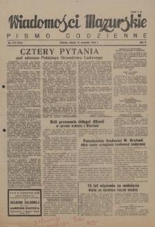Wiadomości Mazurskie : pismo codzienne. 1946 (R. 2), nr 212 (223)