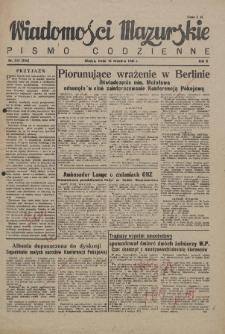 Wiadomości Mazurskie : pismo codzienne. 1946 (R. 2), nr 215 (226)