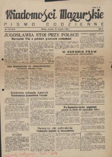 Wiadomości Mazurskie : pismo codzienne. 1946 (R. 2), nr 222 (233)
