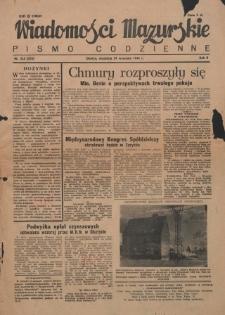 Wiadomości Mazurskie : pismo codzienne. 1946 (R. 2), nr 225 (236)